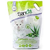 Sanicat Diamantes Aloe Vera Gel de sílice 5 litros sin grumar para gatos