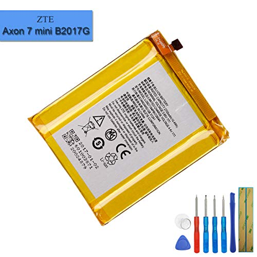 New Replacement Battery Li3927T44P8h726044 Compatible with ZTE Axon 7 Mini B2017G with Tools