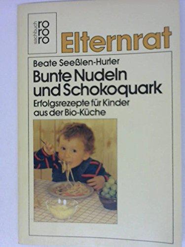 Bunte Nudeln und Schokoquark