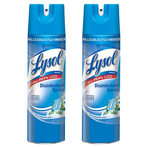 Lysol Disinfectant Spray, Spring Waterfall, 19 Ounce (Pack of 2)