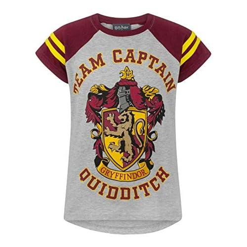 """Harry Potter, maglietta con stampa in inglese """"Team Captain Quidditch"""", da bambina Multicoloured 7-8 anni"""