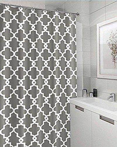 Duschvorhang Wasserdicht Badvorhang Anti-Bakteriell/ Anti-Schimme/ Maschinenwaschbar/ Schnelltrocknender mit 12 Duschvorhangringen, 100 prozent Polyester (180 * 180 cm)