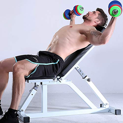 Weight Bench Adjustable Weight Bench-Utility Gym Bench for Full Body Workout, Multi-Purpose Foldable Incline Dumbbell Benchs Dumbbell Bench