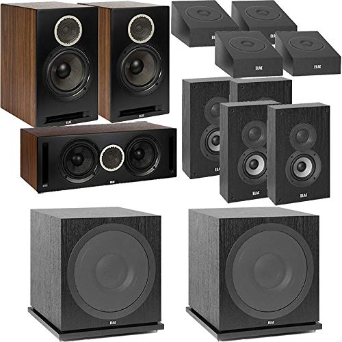 Best Prices! ELAC Dolby Atmos Debut Reference DBR62 Bookshelf 11.2 Home Theater System with On-Wall ...