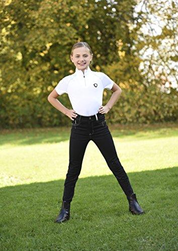 Covalliero Pantalon d'équitation Basic Plus pour Enfant. 9-10 Ans Noir