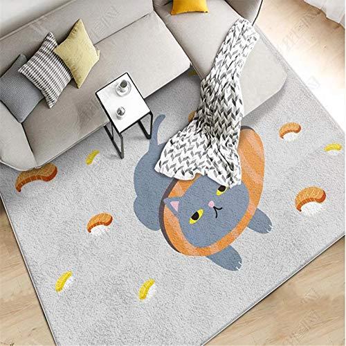 obchyc Cartoon Perserkatze Abnehmbarer Teppich Kinderzimmer Unterhaltungsfläche Teppich Babyspielmatte Wohnzimmer Kindergarten Unschlagbare Waren - 120X160Cm_Carpet