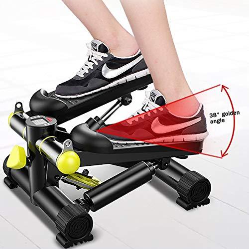 BAIMILI Stepper Cardio Fitness Mini 150kg, Máquina de Step Aparato de Entrenamiento Stepper con Barra de Sujección Y Pantalla Multifuncional