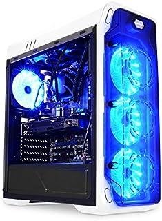 LC-Power Gaming 988W - Blue Typhoon Midi-Tower Blanco - Caja de Ordenador (Midi-Tower, PC, Metal, Blanco, ATX,Micro ATX,Mini-ITX, Juego)