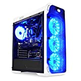 LC-Power Gaming 988W - Blue Typhoon Midi-Tower Blanco - Caja de ordenador (Midi-Tower, PC, Metal, Blanco, ATX,Micro ATX,Mini-ITX, Juego)