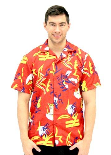 Disfraz Agente Scarface Tony Montana Disfraz para Adultos de Botón Hawaiano hasta Camiseta