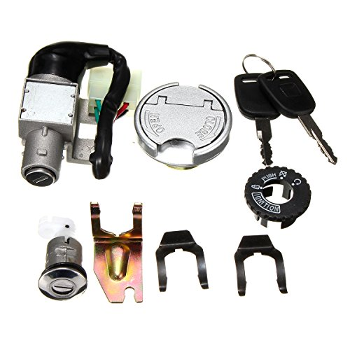 ILS GY6 50cc Universal Ignition Lock Switch Fuel Tank Cap Key Set voor Scooter bromfiets