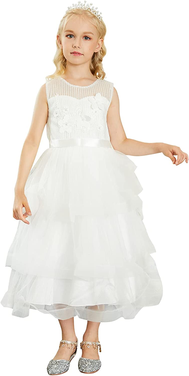 Kidikidi Sales of SALE items from new works Flower Girl Dress Spasm price Little Wedding Girls Pageant Br