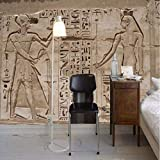 Gwgdjk Benutzerdefinierte Amy Größe Wandbild Tapete 3D Stereo Alten Ägyptischen Pyramide Stein Wandmalerei Europäischen Stil Retro Restaurant 3D Fresko-140X100Cm (56 * 40Inch)