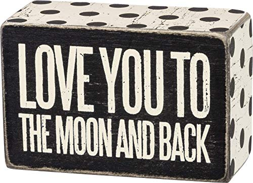 Primitives by Kathy Polka Dot Trimmed Box Sign, 4' x 2.5', To the Moon