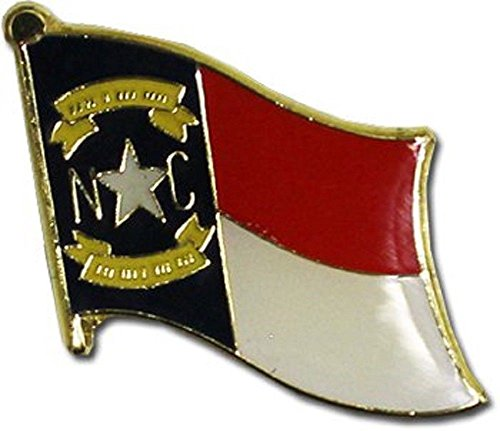 Wholesale Pack of 3 State of North Carolina Flag Bike Hat Cap lapel Pin
