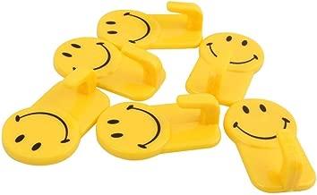 Duze Plastic Self-Adhesive Smiley Face Hooks,Upto 1 Kg Load Capacity, 12 Piece Set