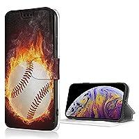 火の野球 iPhone7 iPhone8 適用 ケース PUレザー 手帳型 スマホケース カード収納 スタンド機能 軽量 耐衝撃 全面保護カバー