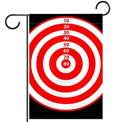 Tizorax Dartscheibe mit Punkten, Gartenflaggen, Banner, wasserdicht, Dekoration für Zuhause, Urlaub, Hof, Flagge, 30,5 x 45,7 cm, Textil, multi, 28x40in