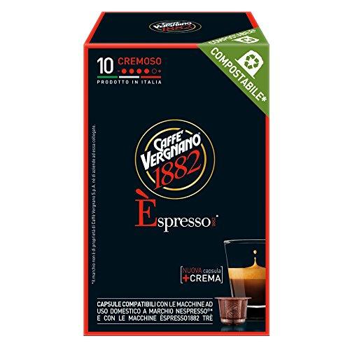 Caffè Vergnano 1882 Èspresso Capsule Caffè Compatibili Nespresso, Cremoso - 12 confezioni da 10 capsule (totale 120)