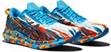 Asics Gel-Noosa Tri 13, Road Running Shoe Hombre, Digital Aqua/Marigold Orange, 42 EU