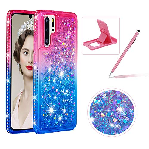 Read About Liquid Clear Case for Huawei P30 Pro,Soft TPU Cover for Huawei P30 Pro,Herzzer Luxury Cre...