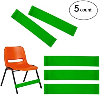 (Set of 5) Natural Latex Stretch Chair Bands ,Workout ADHD ADD SPD Autism Sensory Needs & Stretch Foot Band for Chairs by Rehab or Physical Therapy