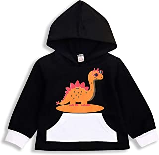 YOUNGER STAR Toddler Baby Boys Girl Cotton Long Sleeve Cartoon Funny Dinosaur Hoodies Kids Sweatshirt
