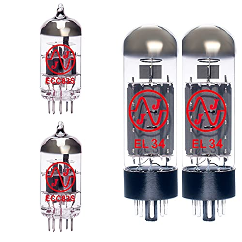Replacement Valve Kit for Bogner Barcelona (1 x ECC83 1 x Balanced ECC83 2 x Matched EL34)