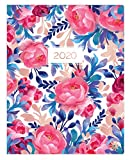 """bloom daily planners 2020 Monthly Planner Calendar (January 2020 - December 2020) - Large 9"""" x 12"""" Agenda Schedule Organizer - Blue & Red Floral"""