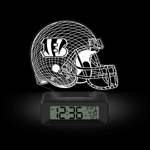 NFL Team Logo LED Illusion Alarm Clock by Game Time - Cincinnati Bengals