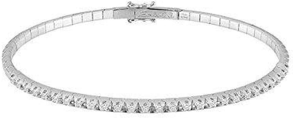 Bracciale salvini royal ext tennis rigido in oro bianco  con diamanti nella parte superiore per ct 0,30 20071535
