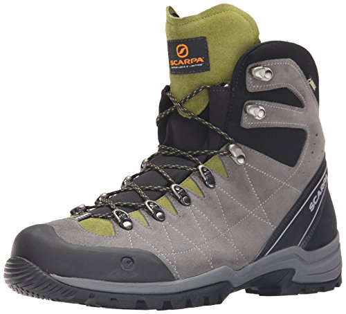 SCARPA Men's R-Evolution GTX Hiking Boot-M, Titanium/Grasshopper, 42 EU/9 M US