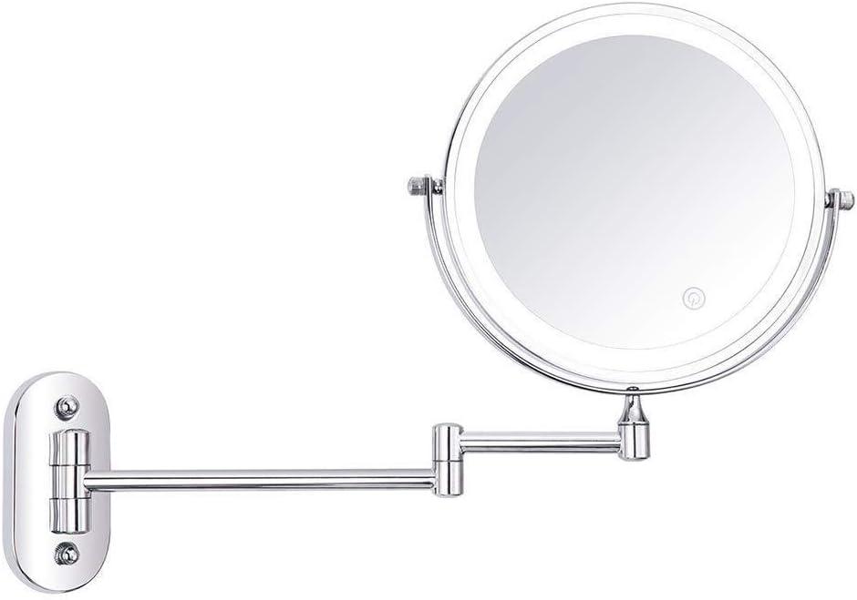 BINGFANG-W Mirror Wall-Mounted Makeup Manufacturer regenerated product Doubl National uniform free shipping 360° Rotating
