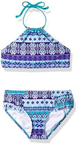 Kanu Surf Girls' Big Beach Sport Halter Bikini 2-Piece Swimsuit, Mahina Purple, 14