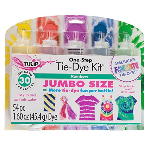 Tulip One-Step Tie-Dye Kit Rainbow Jumbo Size with Bonus Color, 1.70 oz