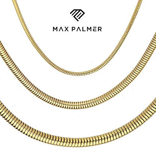 Max Palmer Schlangenkette Edelstahl Gold - [73.] Dicke: 2,5mm - Länge: 50cm