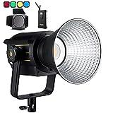 Godox VL300 LEDビデオライト 300W LED撮影灯 スタジオ照明 カラーフィルターとバーンドアセット アプリ対応静音 よい放熱性 5600K CRI96 TLCI95 0-100%調光 Bowensマウント 6グループ16チャンネル Vマウント型コントローラーボックス付き