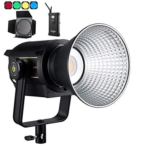 Godox VL150 LEDビデオライト 150W LED撮影灯 5600K CRI96 TLCI95 0-100%調光可能 優れた放熱性 Bowensマウント 6グループ16チャンネル BD-04バーンドア同梱