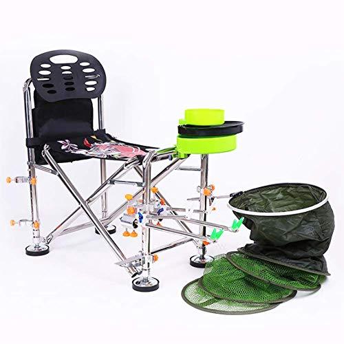DKDYBR Nuevas Sillas Camping Acero Inoxidable, Silla Pesca Knight Taburete Plegable BateríA Asiento Multifuncional Equipo Pesca, Adecuado para MúLtiples Escenas Satisfacer Sus Necesidades Pesca