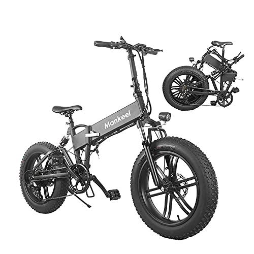 Bicicletta elettrica Fat Tire Bicicletta Pieghevole 36V 10.4Ah 500W Batteria Al Litio Spiaggia Neve Montagna 20'Ciclomotore Ebike