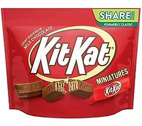 KIT KAT Chocolate Candy Bar, Miniatures, 10.1 oz Bag