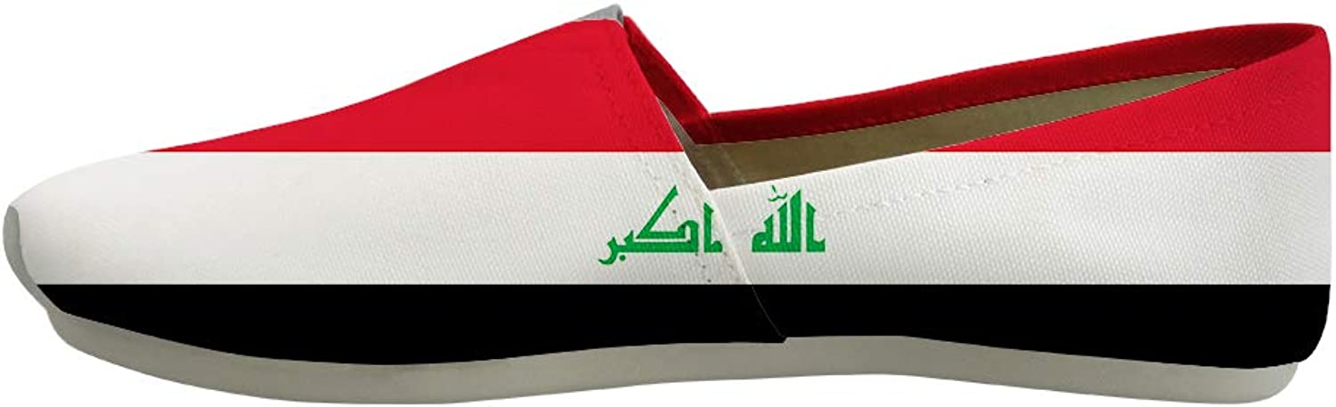 Owaheson Classic Canvas Slip-On Lightweight Driving shoes Soft Penny Loafers Men Women Iraq Flag