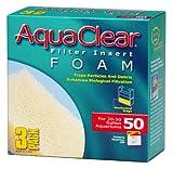 AquaClear 50 Foam Filter Inserts, Aquarium Filter Replacement Media, 3-Pack, A1394