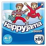 Dodot HappyJama - Pañales niño 4 -7 años, 68 Unidades, 17 kg - 29 kg