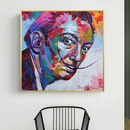 5D diamant schilderij kit kruissteek cm Salvador Dali's Pop Graffiti portret foto voor slaapkamer studie huisdecoratie