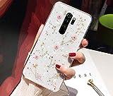 Glitzer Hülle für Xiaomi Redmi Note 8 Pro Hülle Blumen,Glänzend Glitzer Getrocknete Blumen TPU Silikon Hülle Handyhülle Tasche Durchsichtig Handy Hülle Schutzhülle für Xiaomi Redmi Note 8 Pro,Rosa