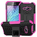 Coque Samsung Galaxy J1 ACE/J110 Coque Antichoc 360 Coin Intégral Full Protection Anti-Rayures,2in1 TPU Cover Case Dorsale Étui...
