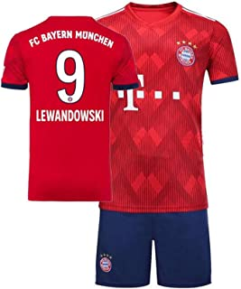 9ca7b4655ad1d WSAYY Uniforme De Football -Robert Lewandowski 9 -Football Uniforme T-Shirt  Ensembles de