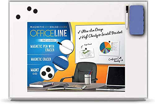 high quality Officeline Ultra-Slim, Lightweight Magnetic Dry Erase Board & Accessories (Includes Whiteboard Pen & Pen Tray, lowest 3 x Magnets & outlet sale Eraser) (24 x 36 Inch) sale