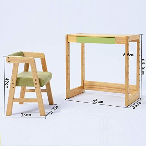 [1 Tisch 1 Stuhl] Aus Massivholz Hebbarer Kinderarbeitstisch Und Stuhlset - FüR Kinder Von 2 Bis 10 Jahren